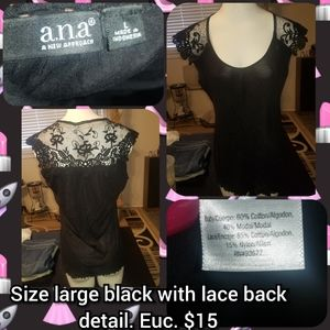 Size large back lace detail top.